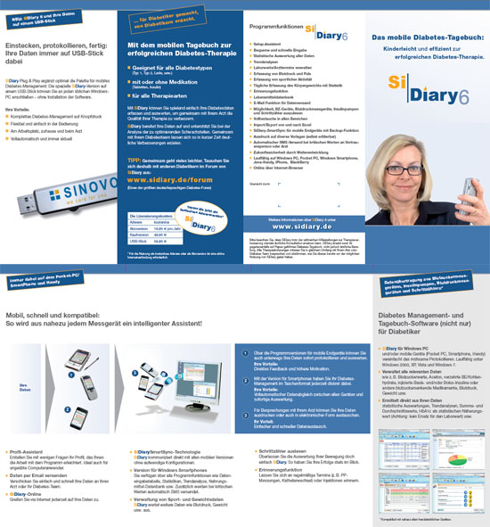 SiDiary - Diabetes Software Infoflyer