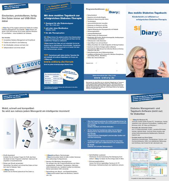 SiDiary - Diabetes Software Infoflyer