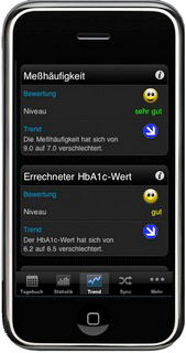 SiDiary - Diabetes App auf dem iPhone