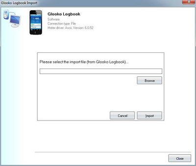 Import your readings from Glooko Logbook into your log book