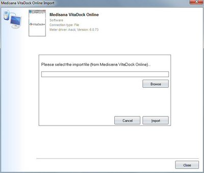 Import your readings from Medisana VitaDock Online into your log book
