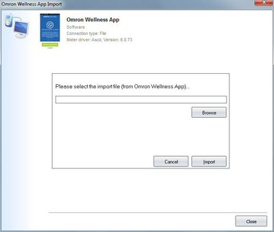 Import your readings from Omron Wellness App into your log book