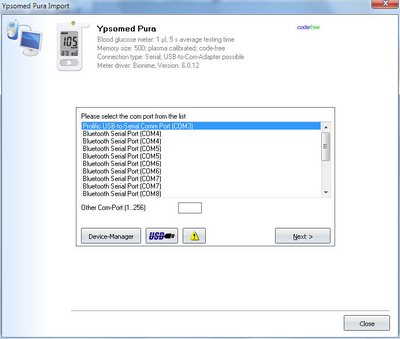 Import your readings from Ypsomed mylife Pura into your log-book