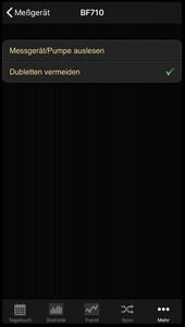 Datenübernahme von der Beurer BF 710 ins Diabetes-Tagebuch der iOS App