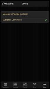 Datenübernahme vom Beurer BM 85 ins Diabetes-Tagebuch der iOS App