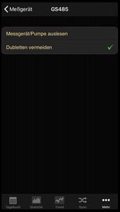 Datenübernahme von der Beurer GS 485 ins Diabetes-Tagebuch der iOS App