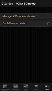 Datenübernahme vom Fora 6 Connect ins Diabetes-Tagebuch der iOS App