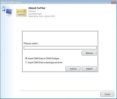 Import your readings from Abbott CoPilot Software into your log-book